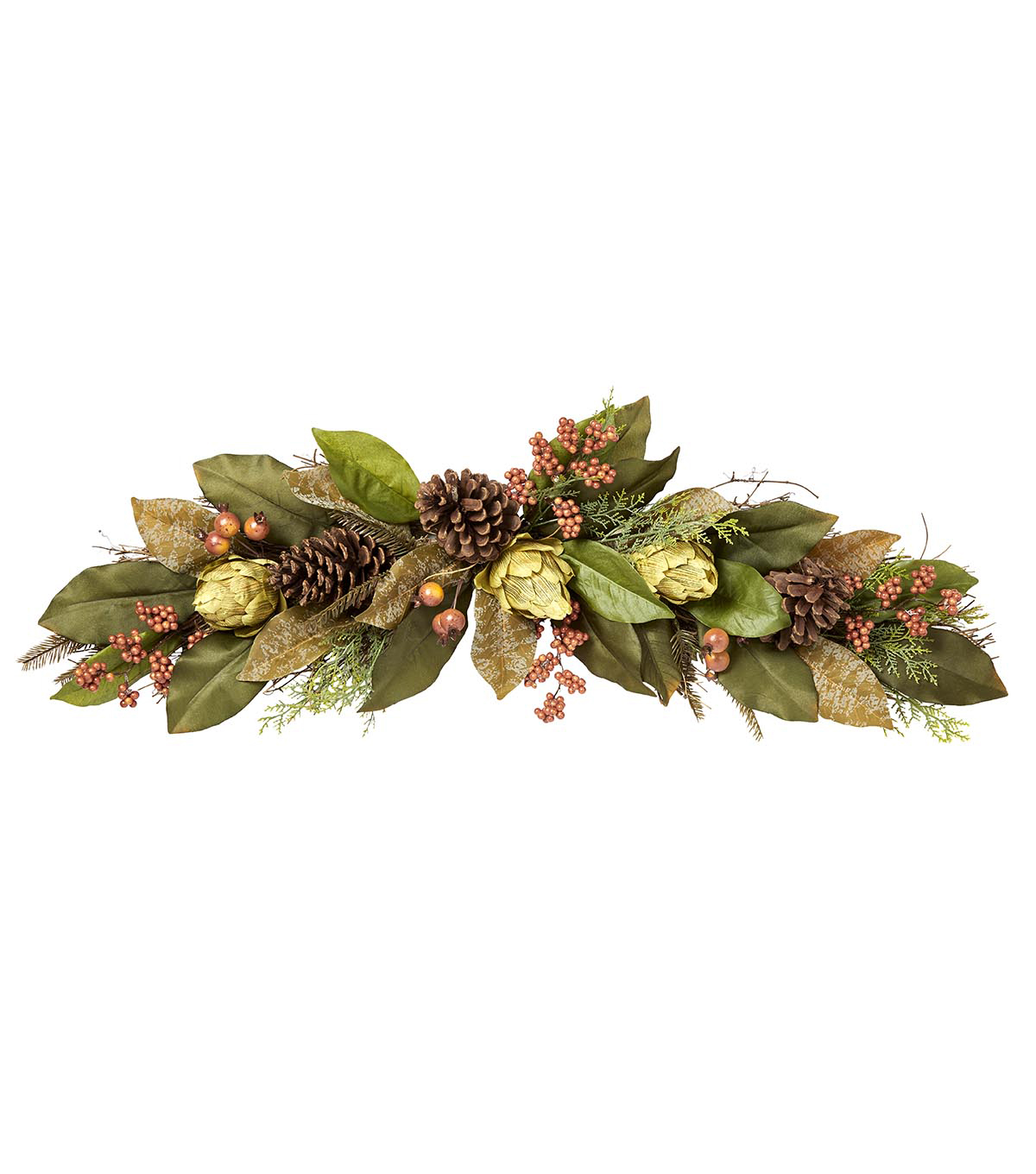 Blooming Autumn 36\u0022 Artichoke Swag-Brown/Green