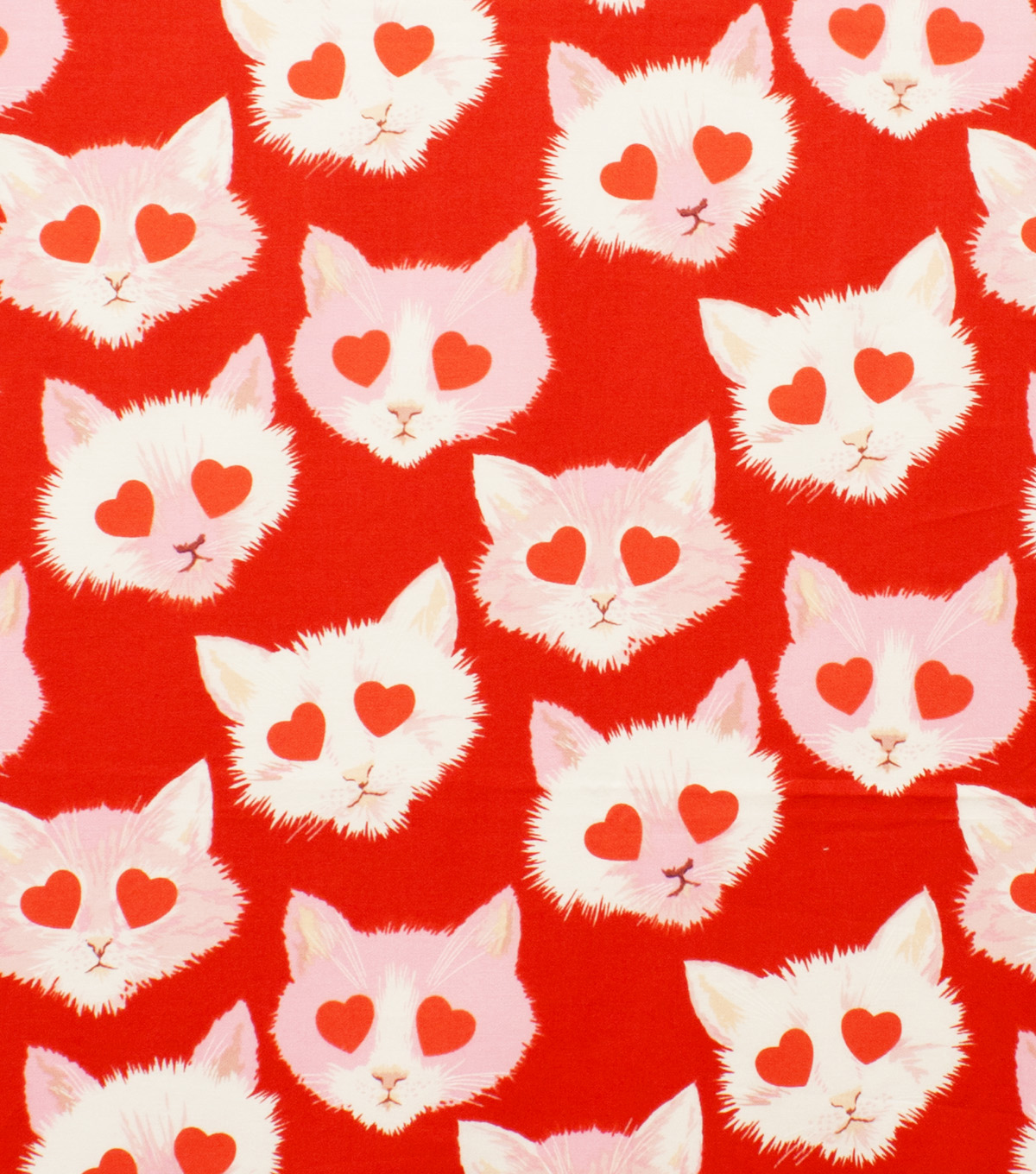 Alexander Henry Cotton Fabric 44\u0022-Lovestruck Red
