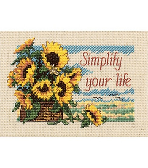 Dimensions Jiffy Simplify Your Life Mini Cntd X-Stitch Kit