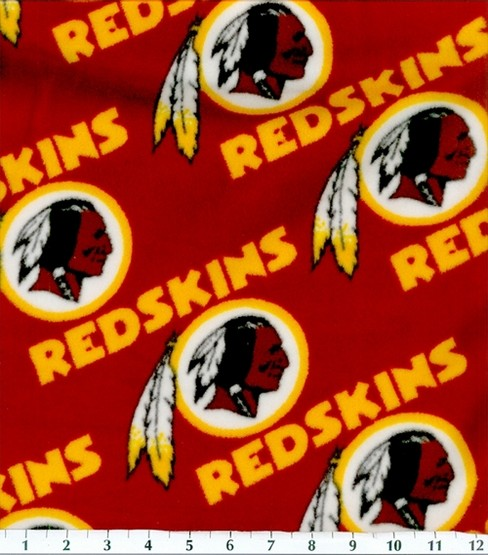 "Washington Redskins Fleece Fabric 58""-Logo"