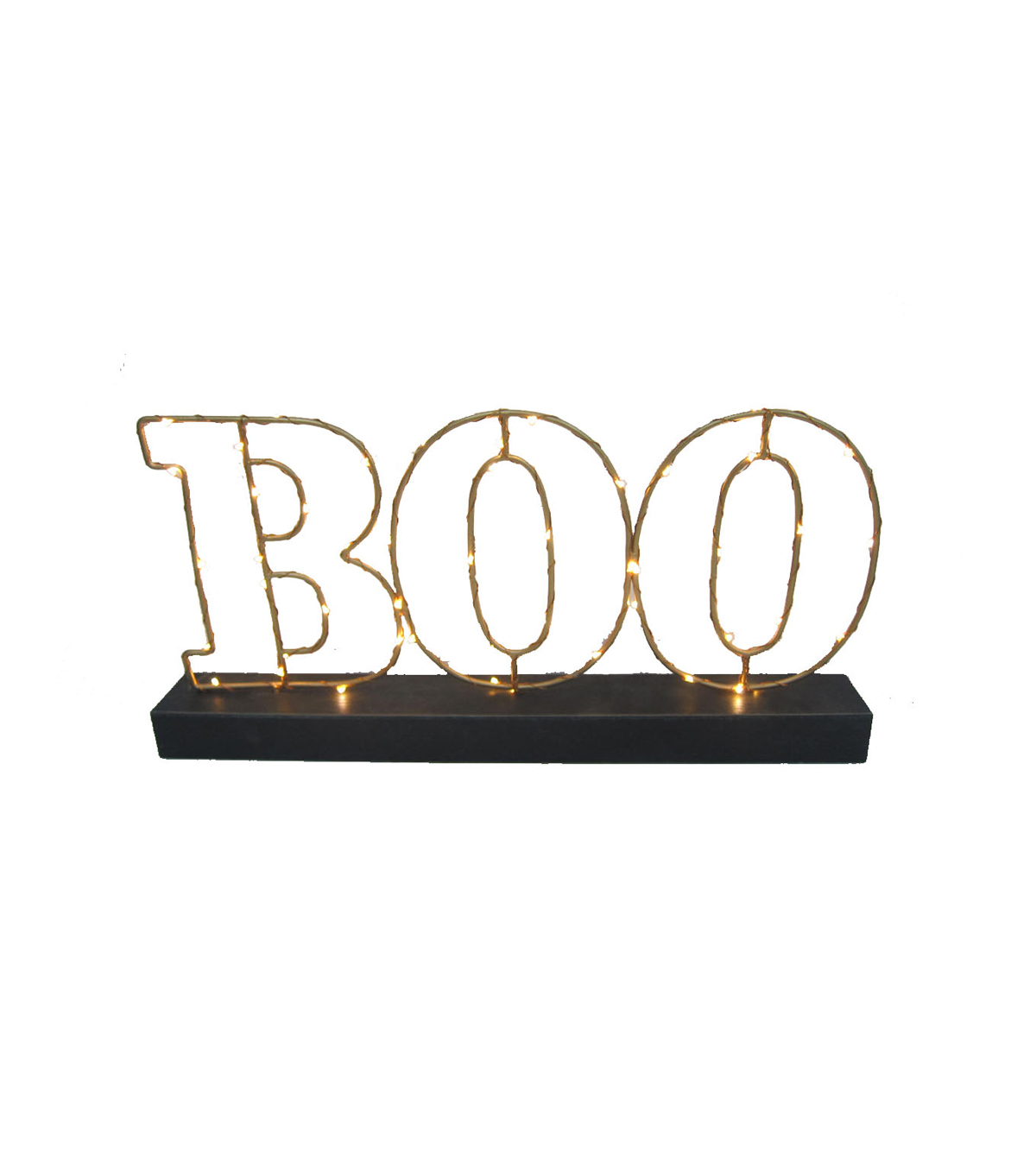 Maker\u0027s Halloween Metal LED Marquee Decor-Boo