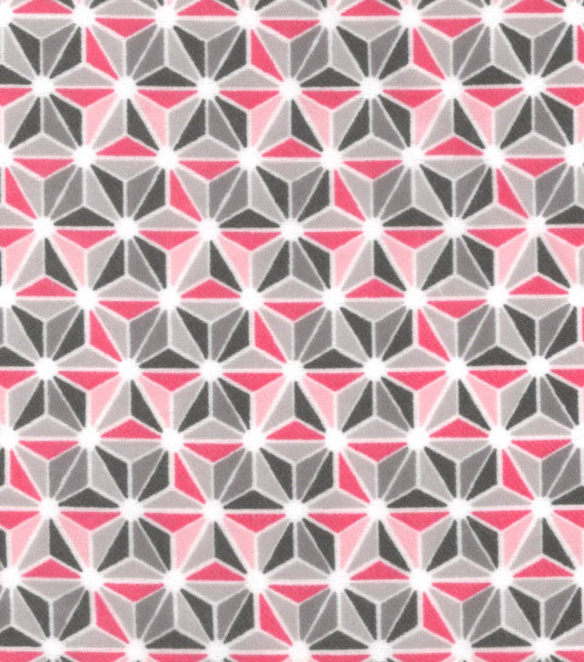 Snuggle Flannel Fabric 42\u0022-Pink Geometric