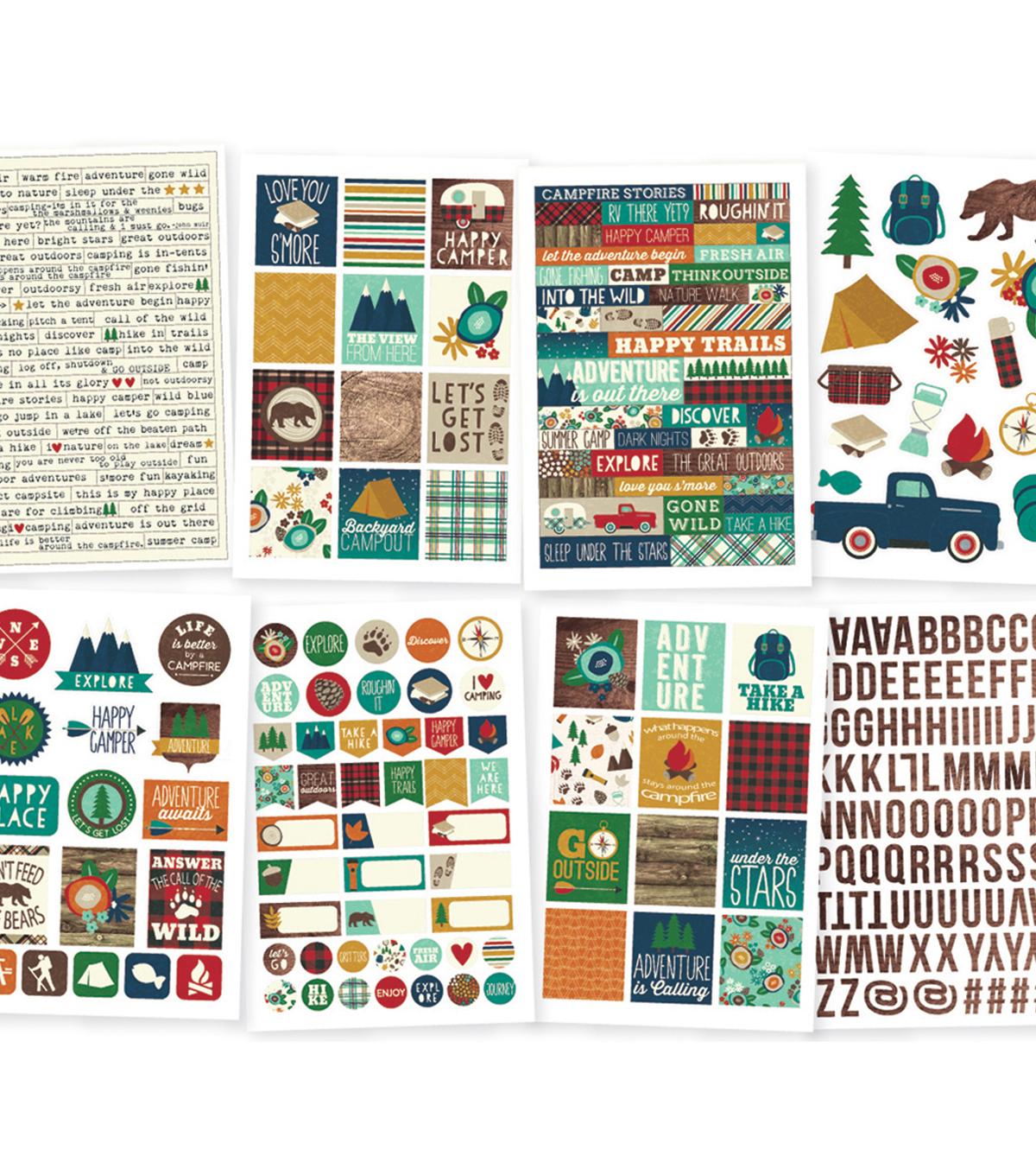 Cabin Fever Stickers 4\u0022X6\u0022