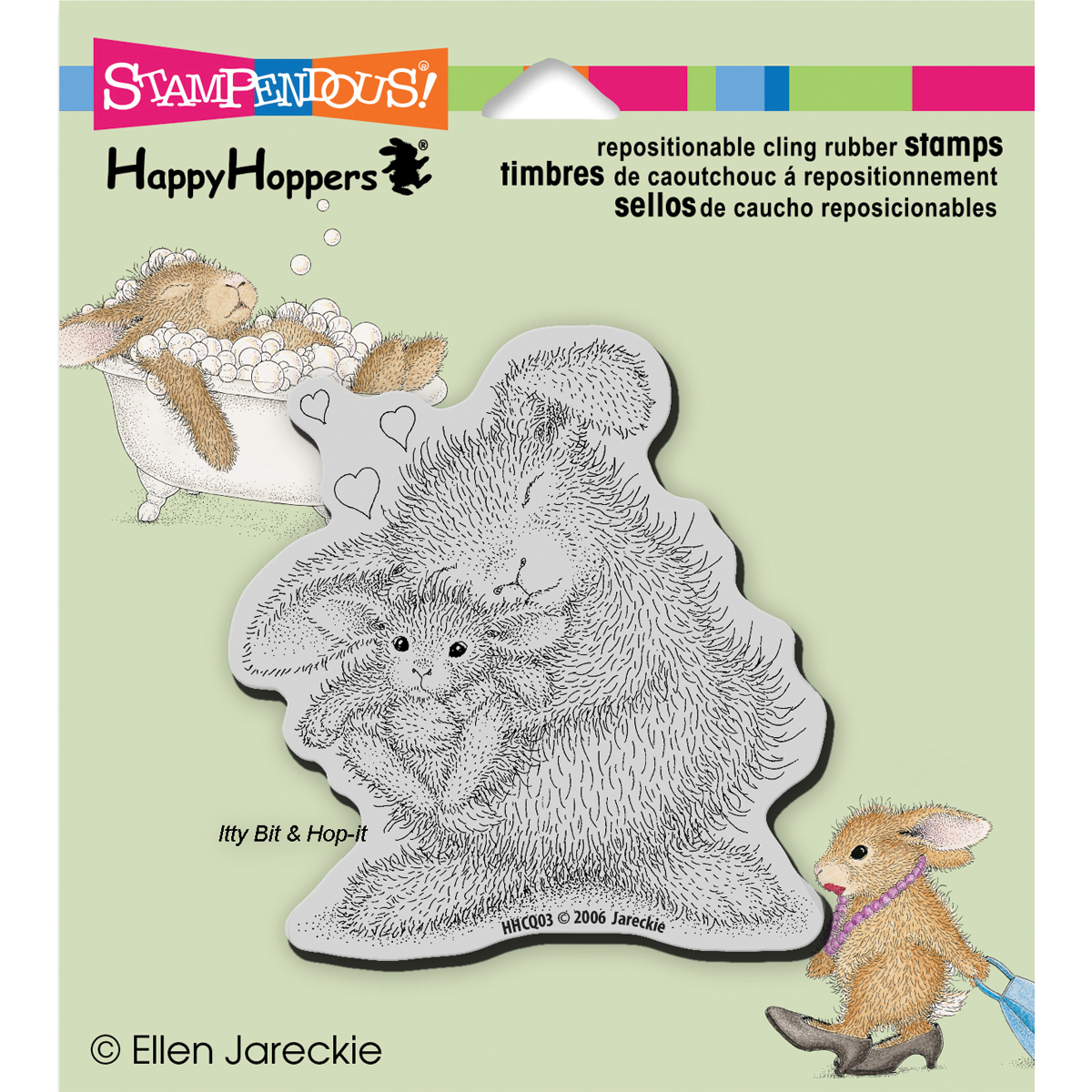 Stampendous HappyHoppers Cling Stamp Bunny Luv