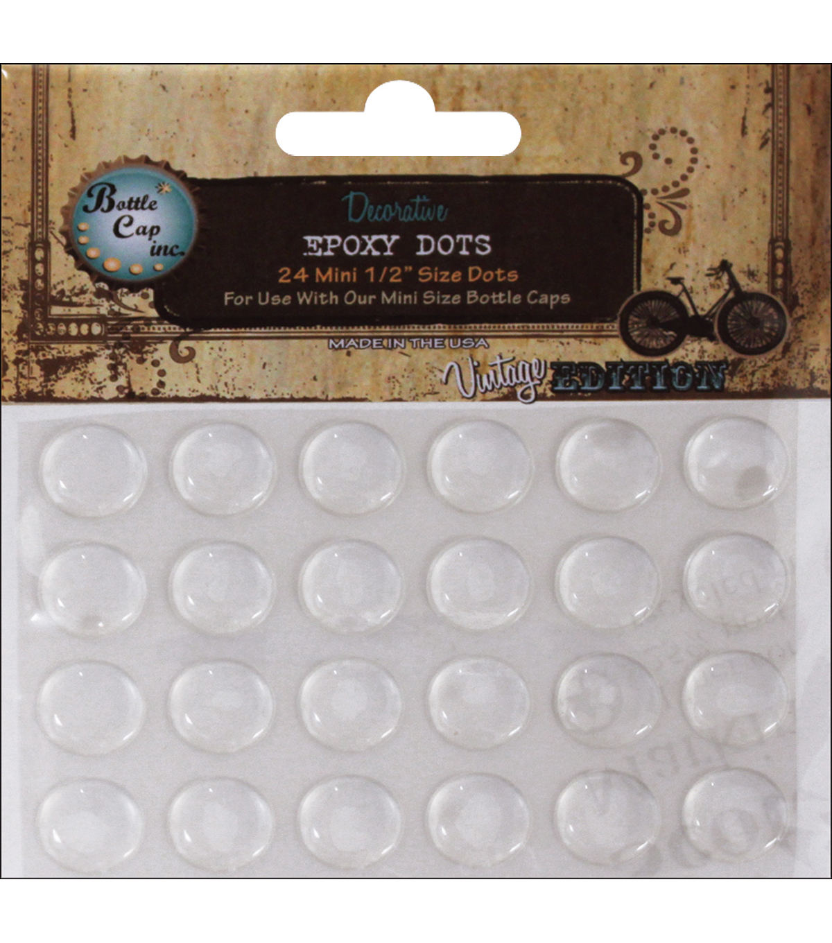 "Vintage Collection Mini Epoxy Dots 1/2"" 24/Pk-"