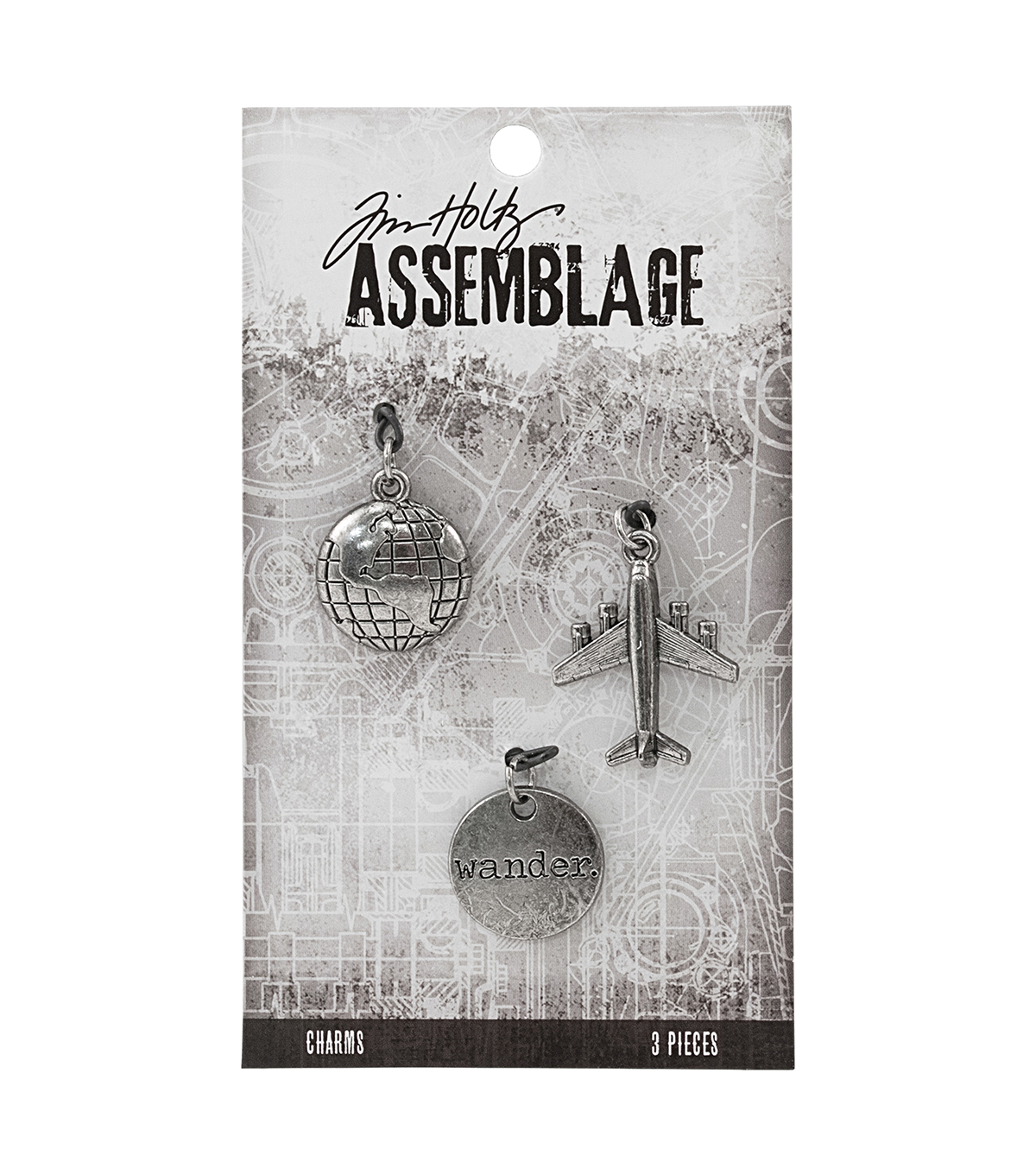 Tim Holtz Assemblage Pack of 3 Journey Charms