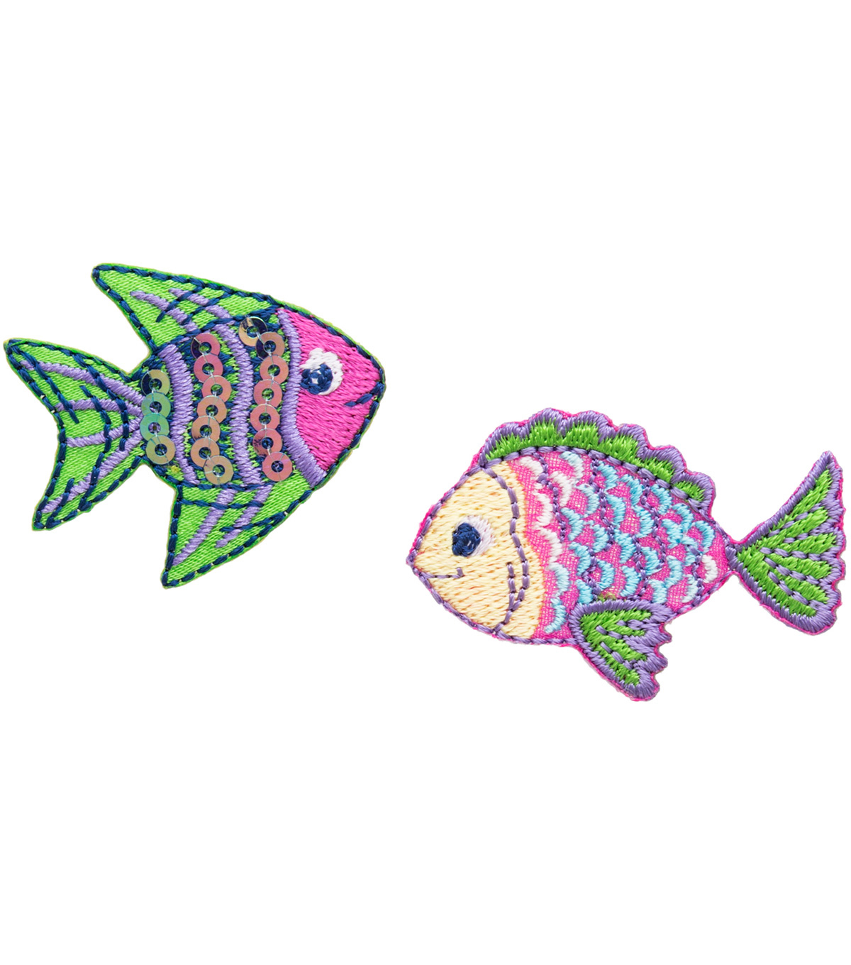 Simplicity® Iron-On Applique-2/Pkg-Tropical Fish