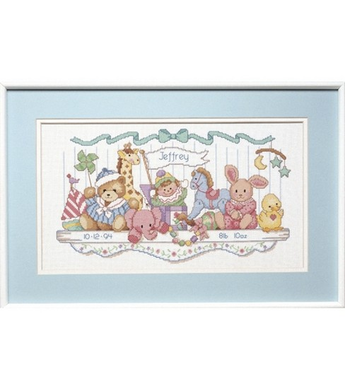 Dimensions Counted Cross Stitch Kit Birth Record