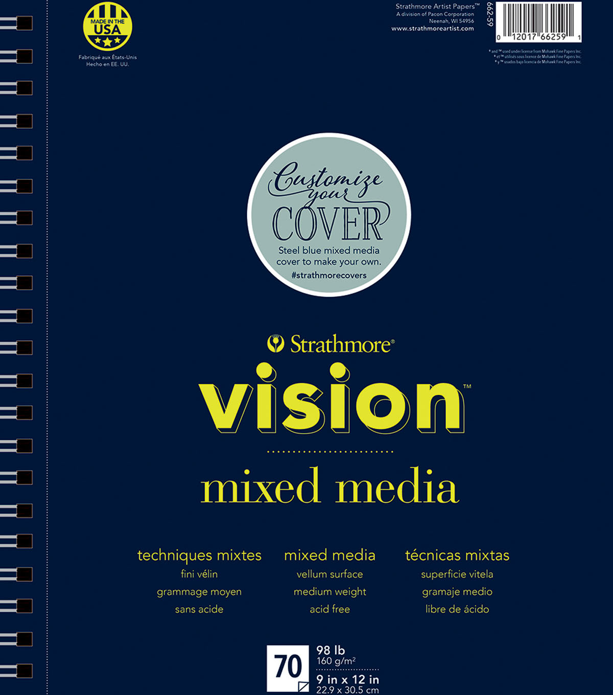 Strathmore 9\u0022x12\u0022 Vision Mixed Media Pad