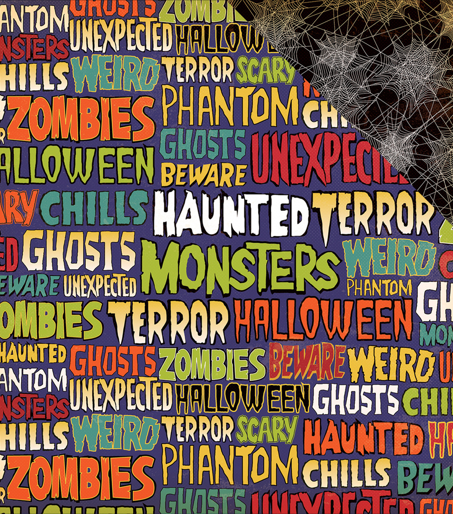 Haunted House Double-Sided Cardstock 12\u0022X12\u0022-Ghastly Words