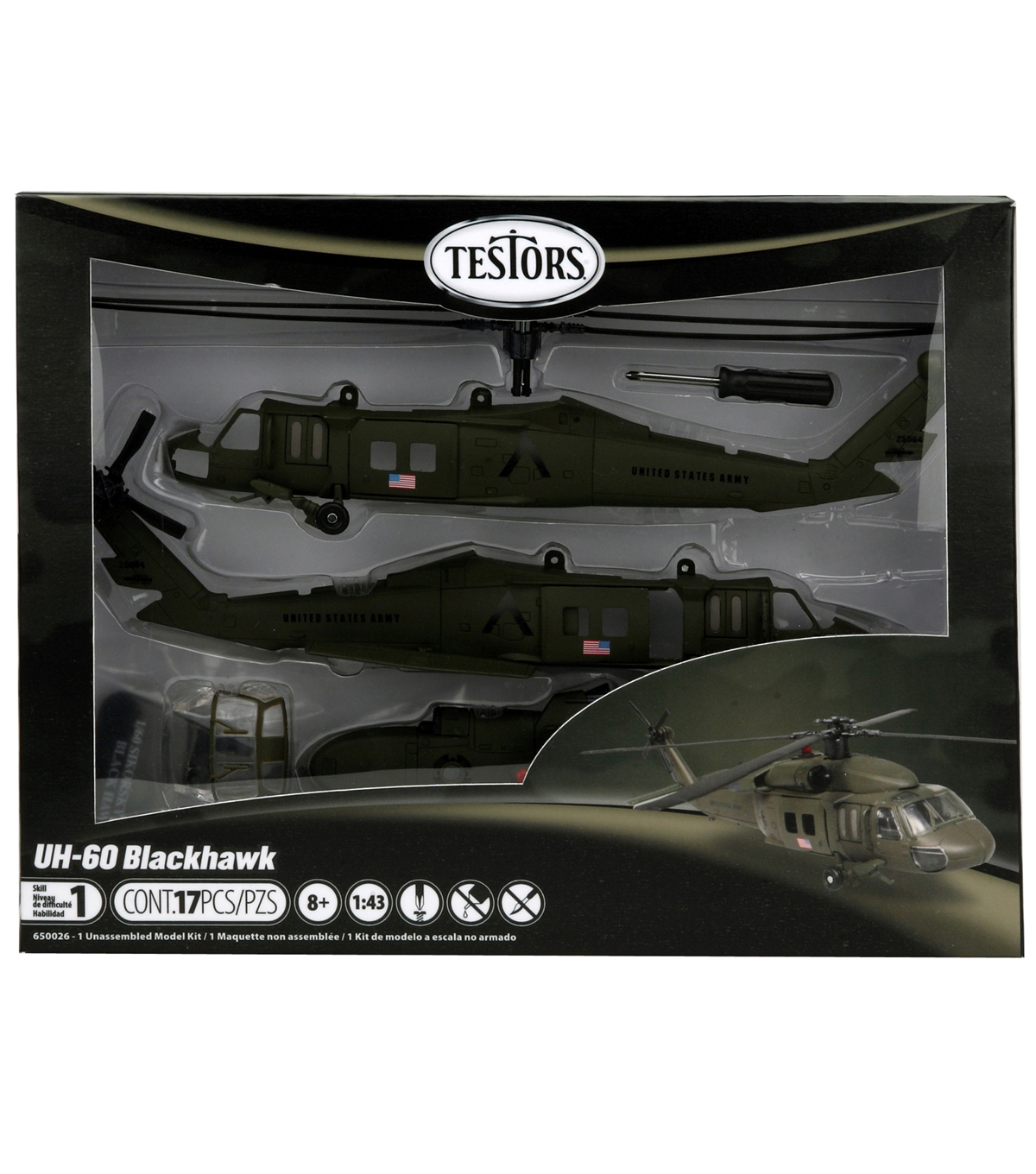 1:60 Uh-60 Black Hawk Helicopter Model Kit