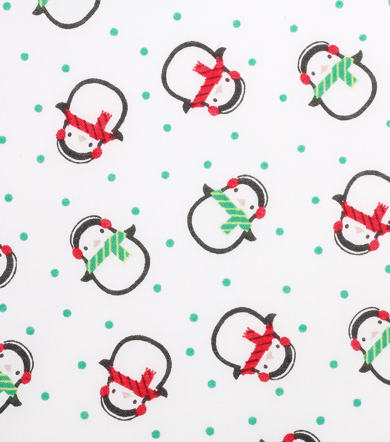 Christmas Cotton Fabric 43''-Cold Penguins on White