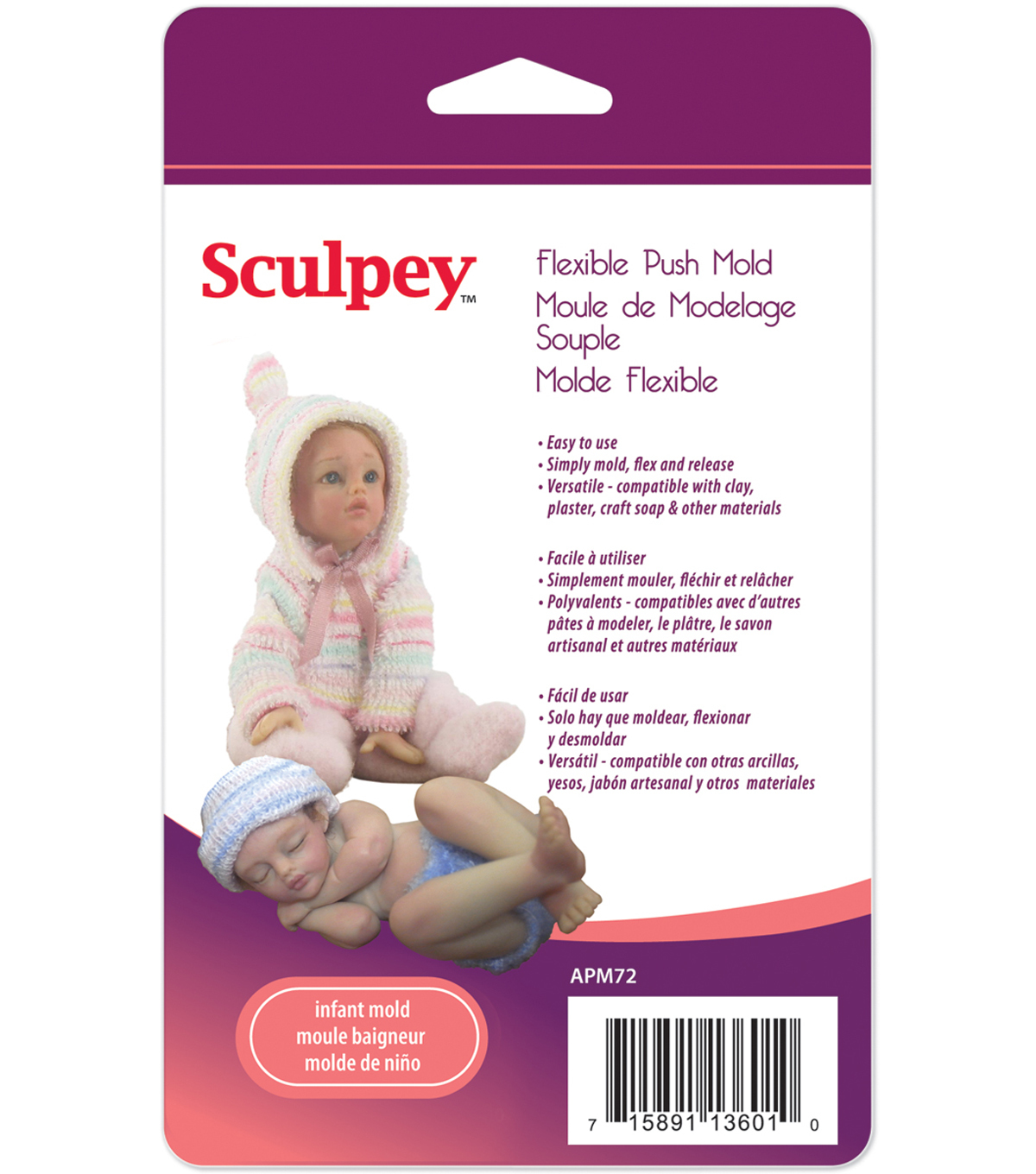 Sculpey Flexible Push Mold-Infant Doll