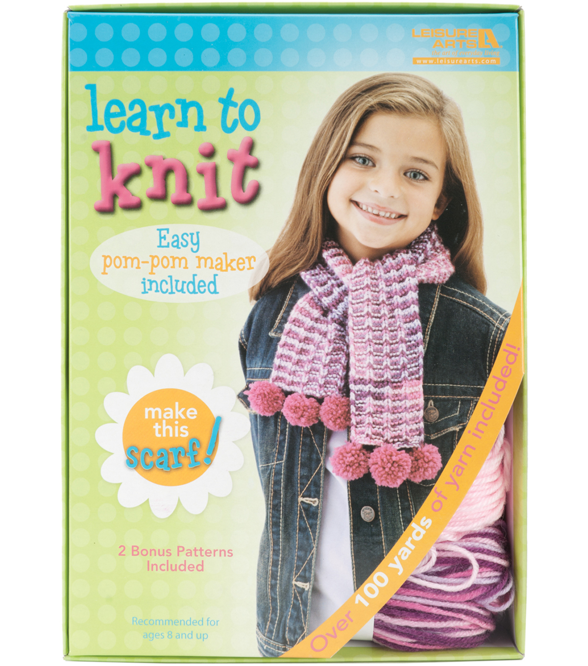 Learn To Knit-Scarf