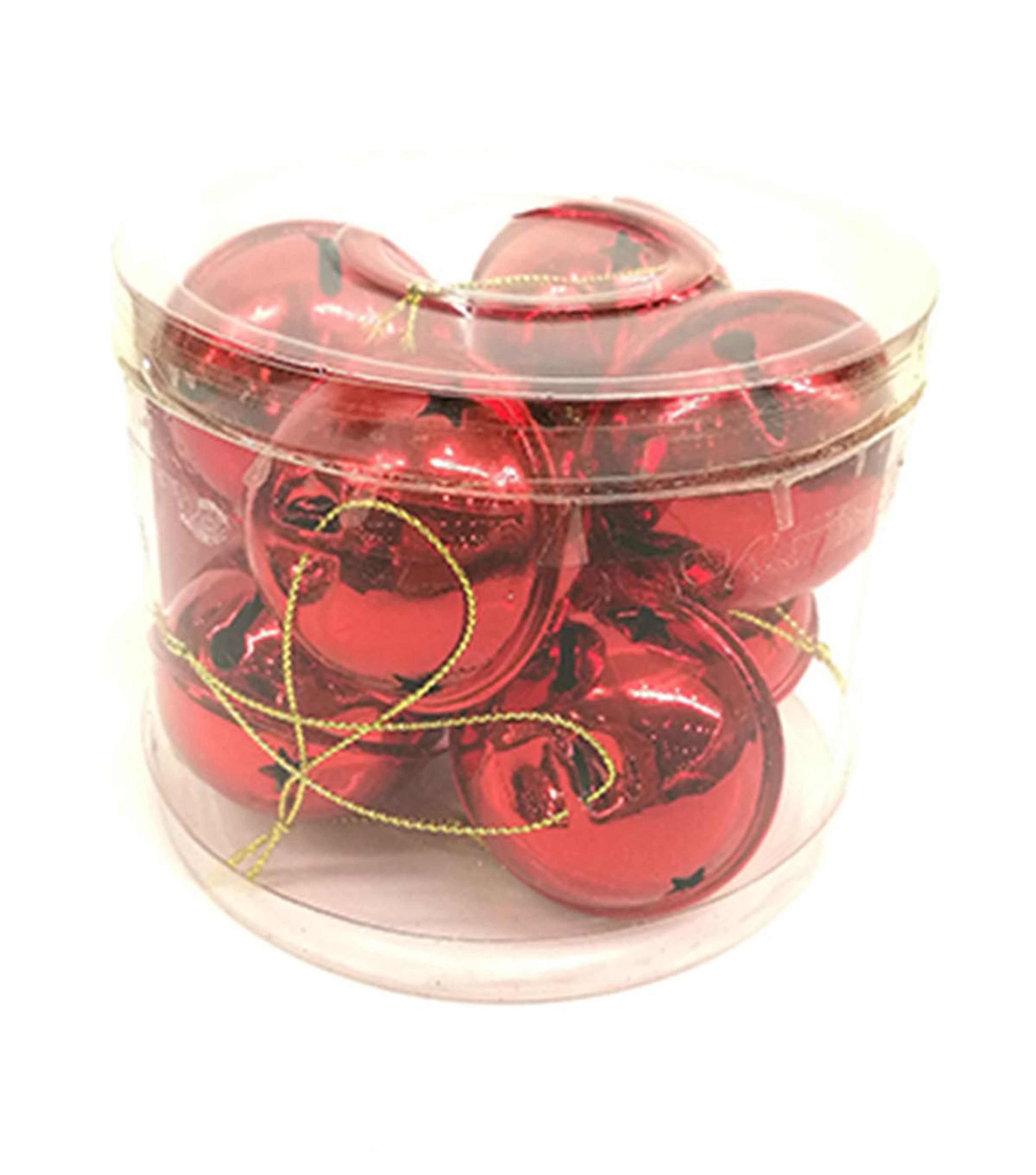Maker\u0027s Holiday Christmas 8 pk 50 mm Jingle Bell Ornaments-Red