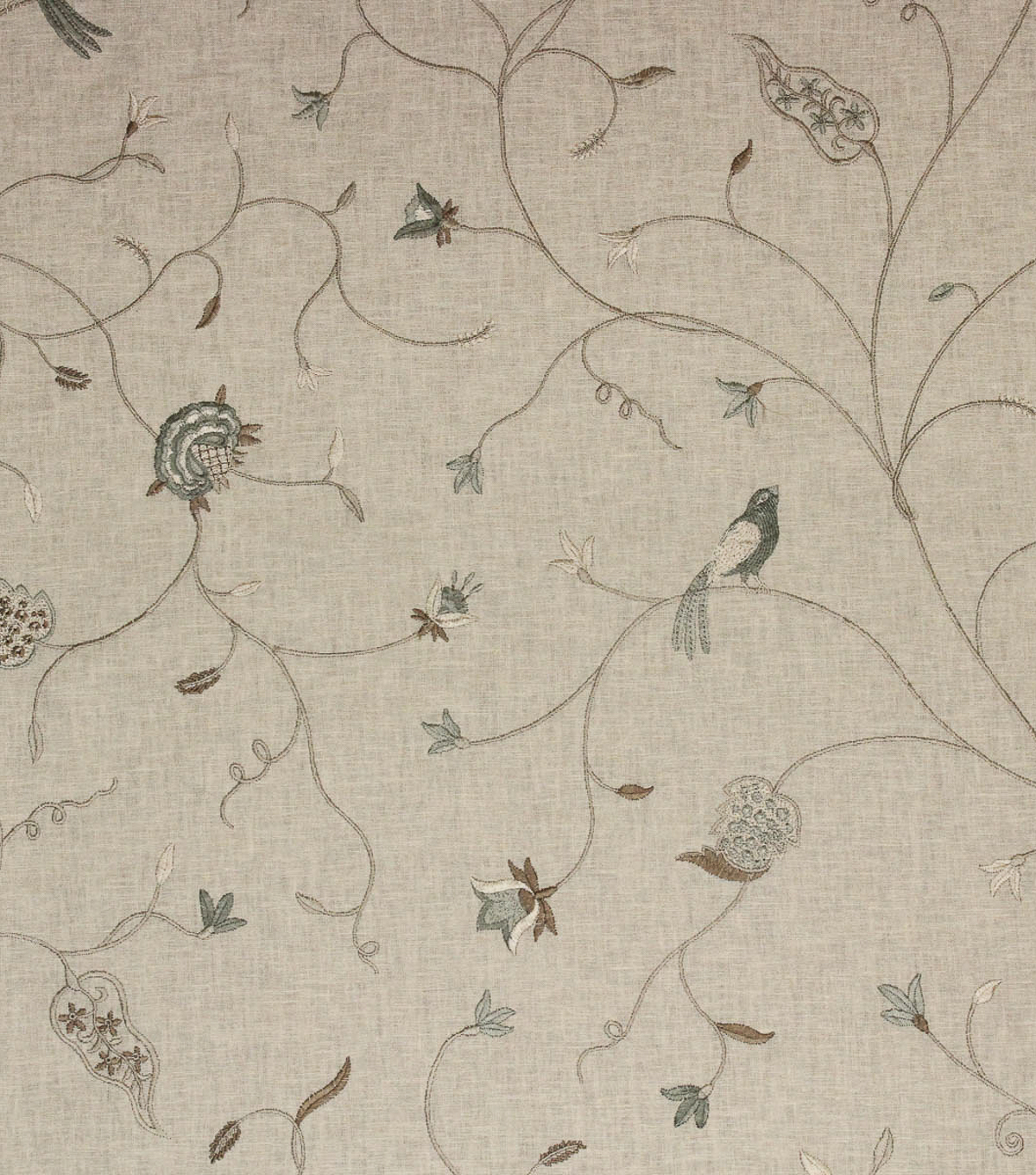 Richloom Studio Print Fabric 48\u0022-Dogwood/Tundra