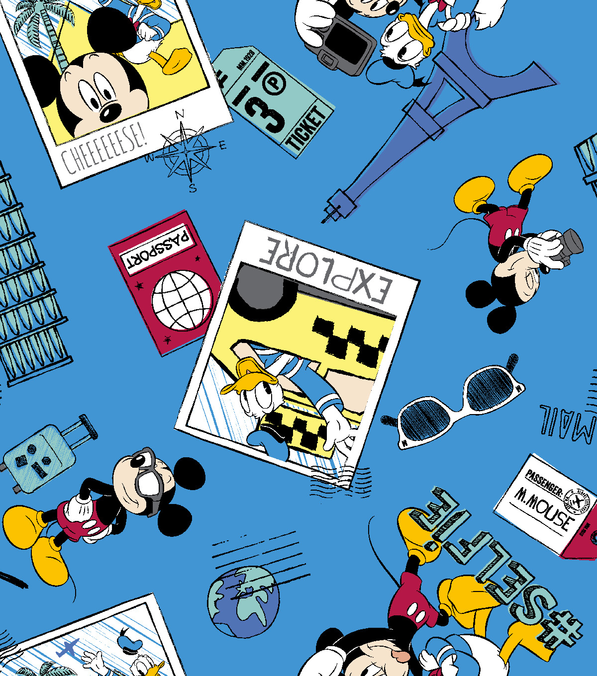 Disney® Cotton Fabric 43''-Mickey Say Cheese Selfie