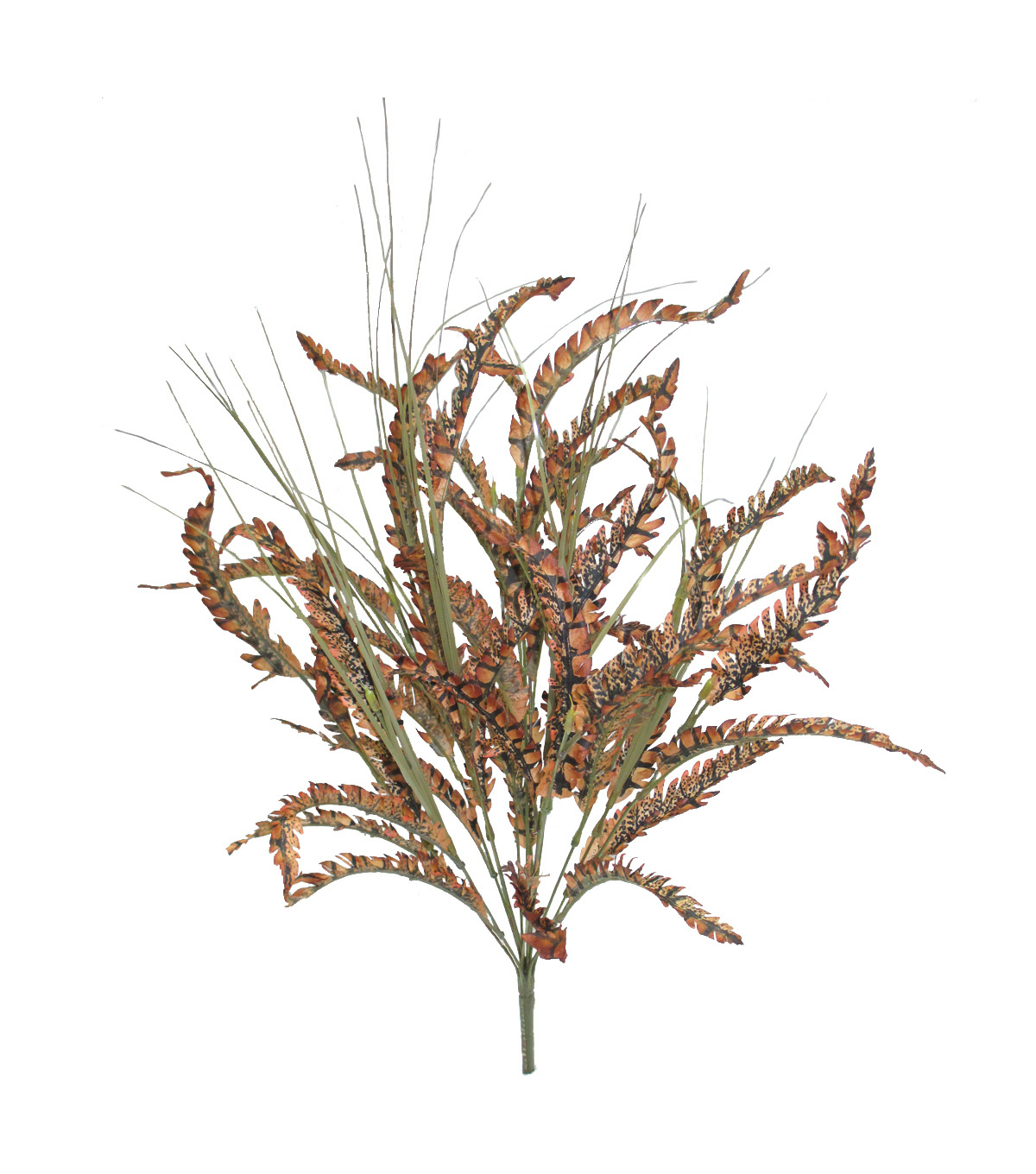 Blooming Autumn 23'' Feather & Onion Grass Bush-Brown