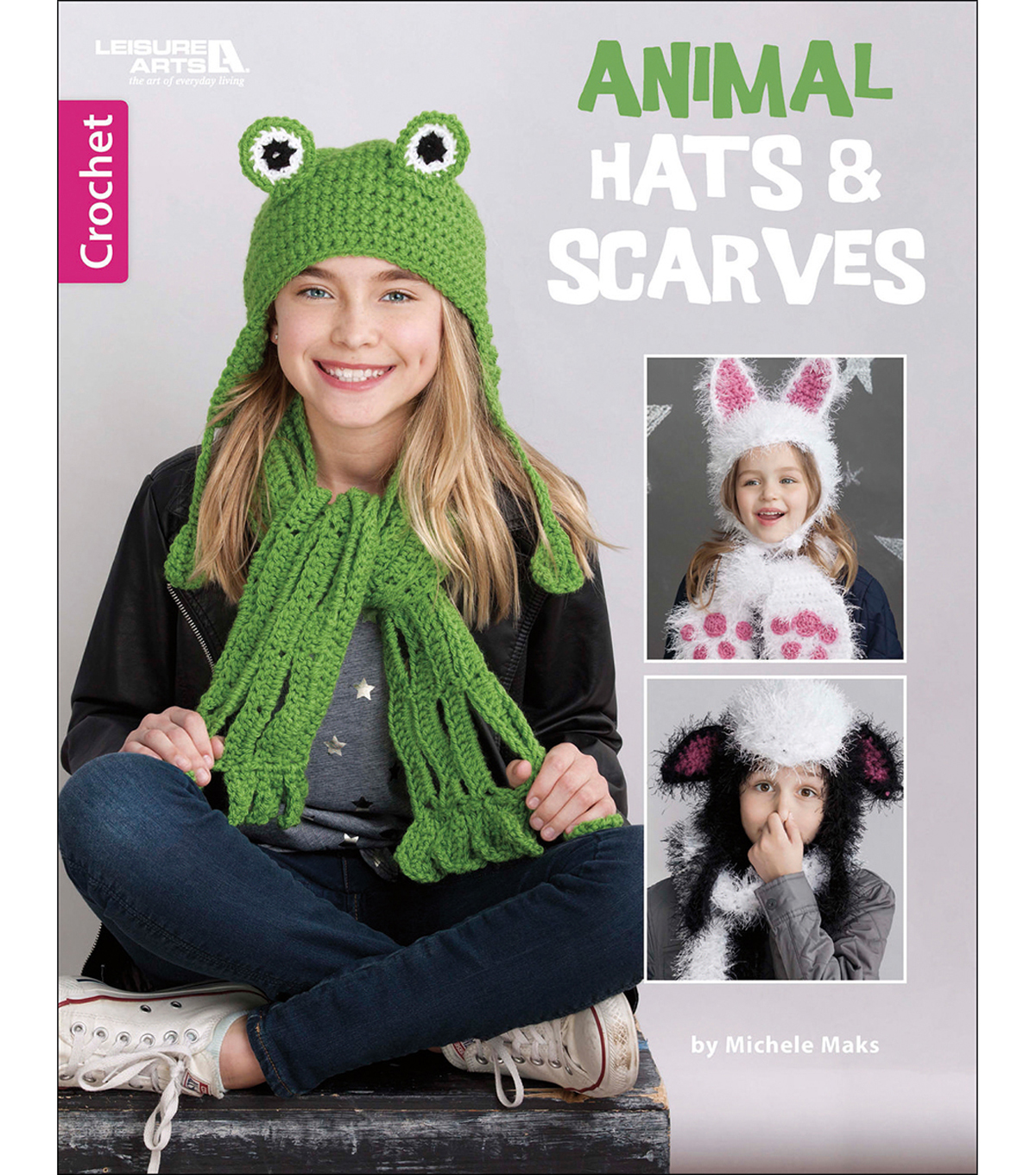 Animal Hats & Scarves Crochet Book