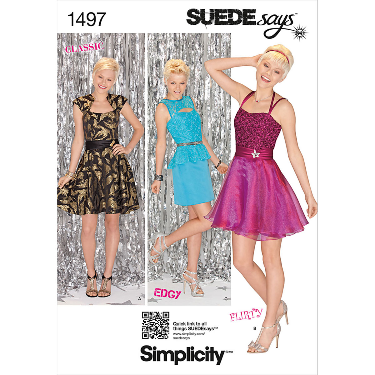 Simplicity Pattern 1497D5 4-6-8-10-1-Misses Special Occas