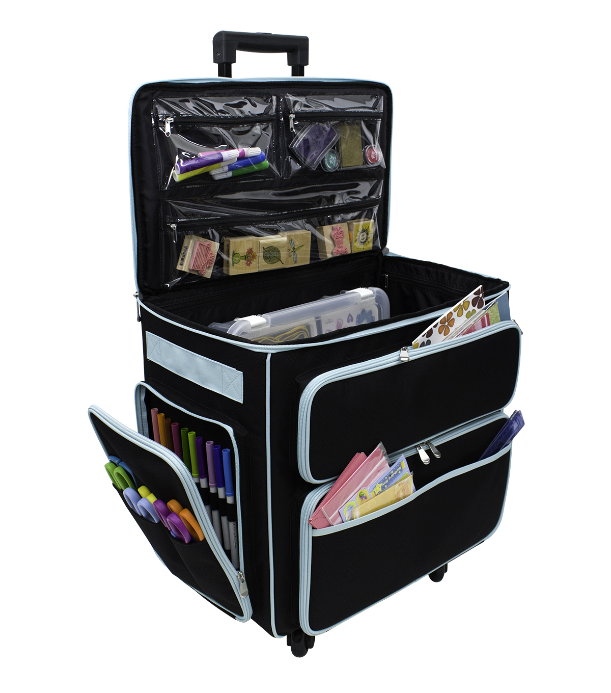 Everything Mary XXL Rolling Paper Crafting Tote-Black