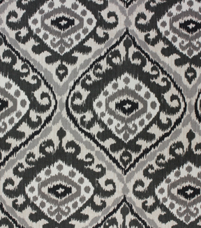 Richloom Studio Print Fabric 54\u0022-Hayley Charcoal