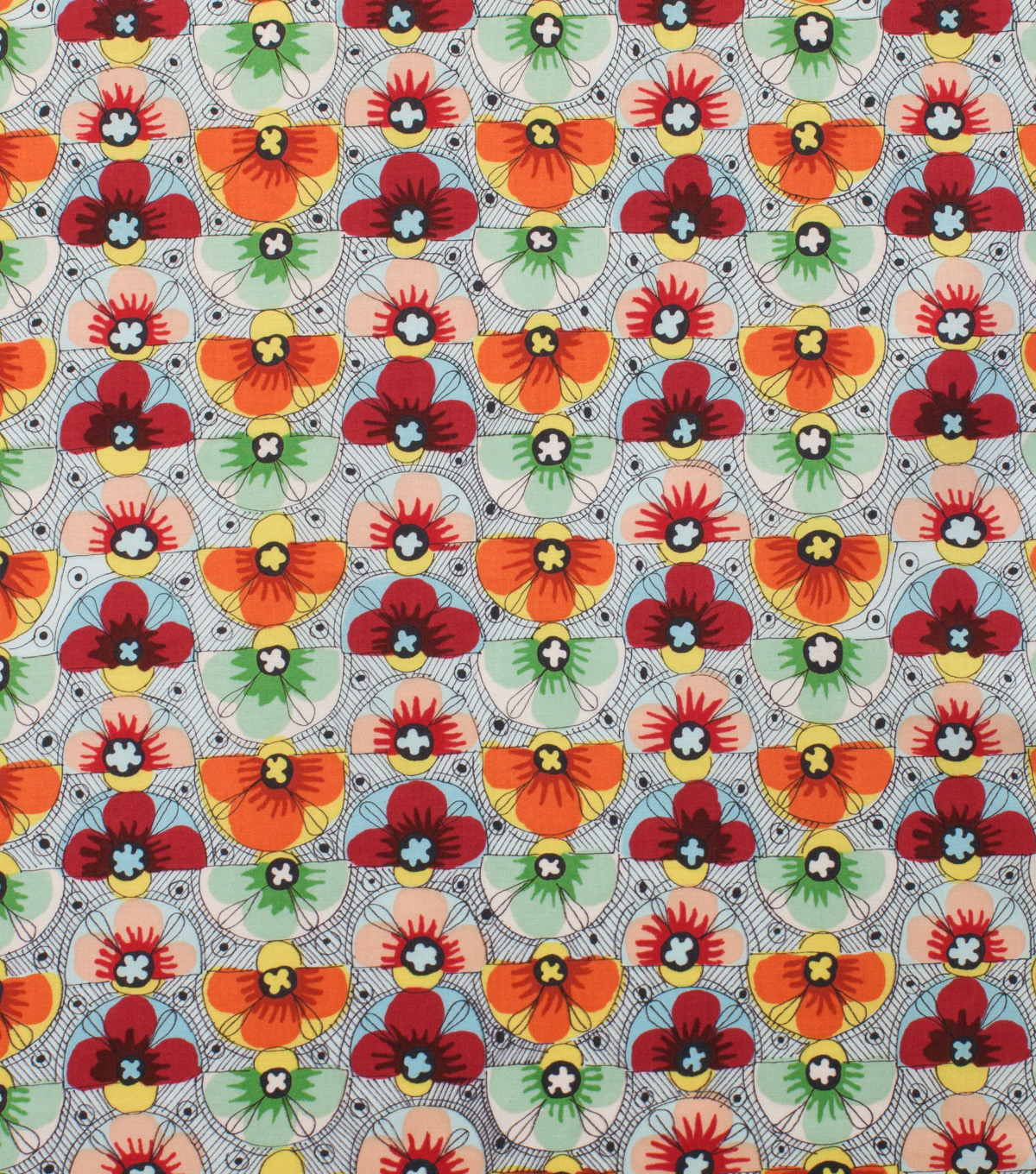 "Alexander Henry Cotton Fabric 44""-Fabrizia Brick Multi"