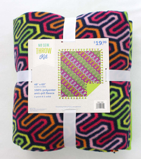 48\u0022 No Sew Throw-Zig Zag Brights