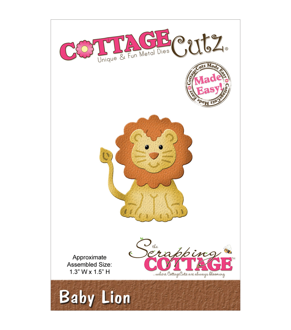 CottageCutz Die 1.3\u0022X1.5\u0022-Baby Lion