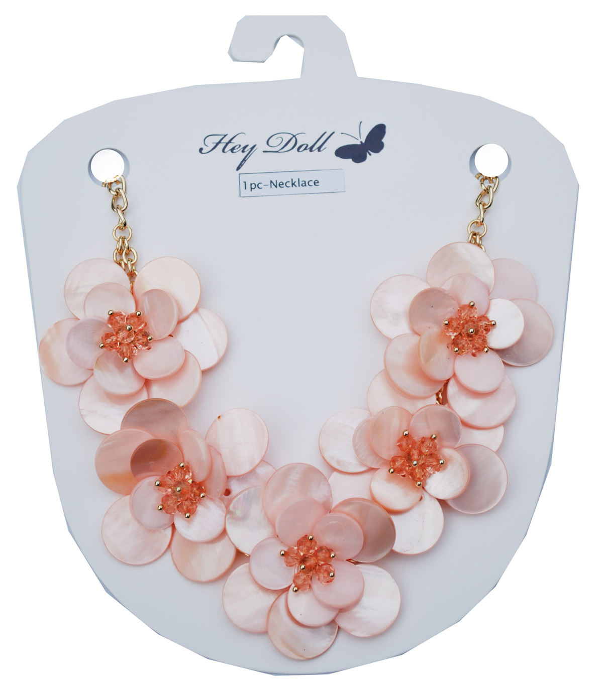 Hey Doll Shell Flower Statement Necklace