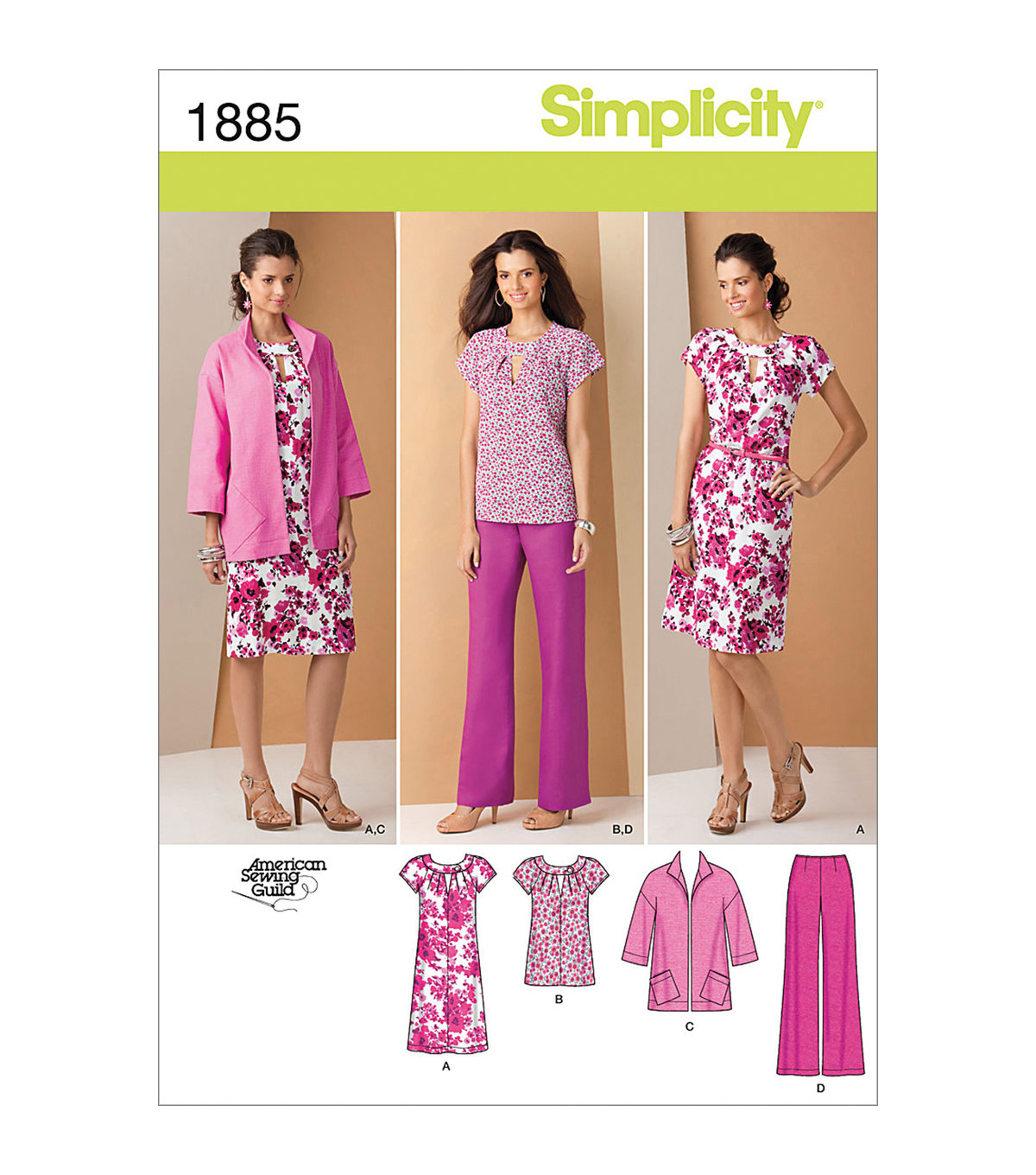 Simplicity Patterns Us1885Aa-Simplicity Misses Sportswear-10-12-14-16-18