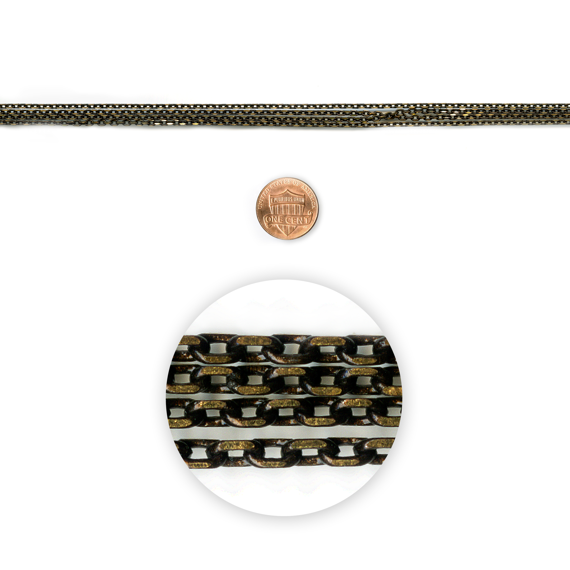 Blue Moon Beads Chain 42In Metal Cable Gold-Black