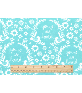 "Nursery Flannel Fabric 42""-Mint You Are So Loved"