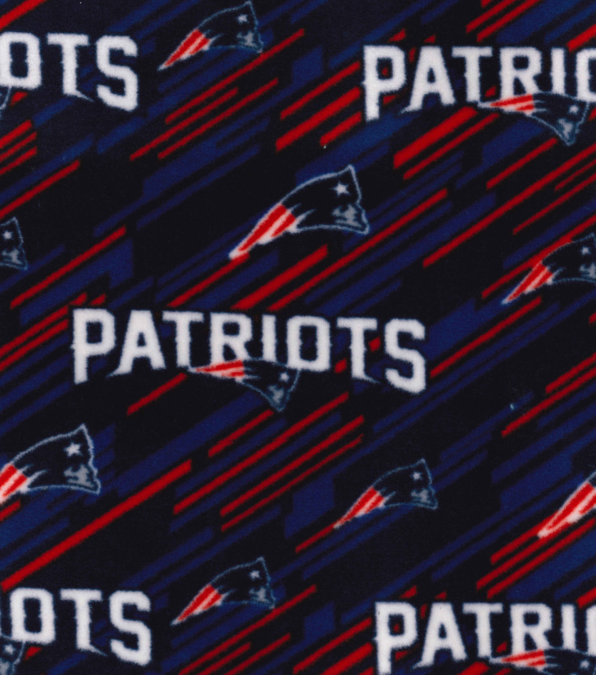 New England Patriots Fleece Fabric 58\u0022-Logo