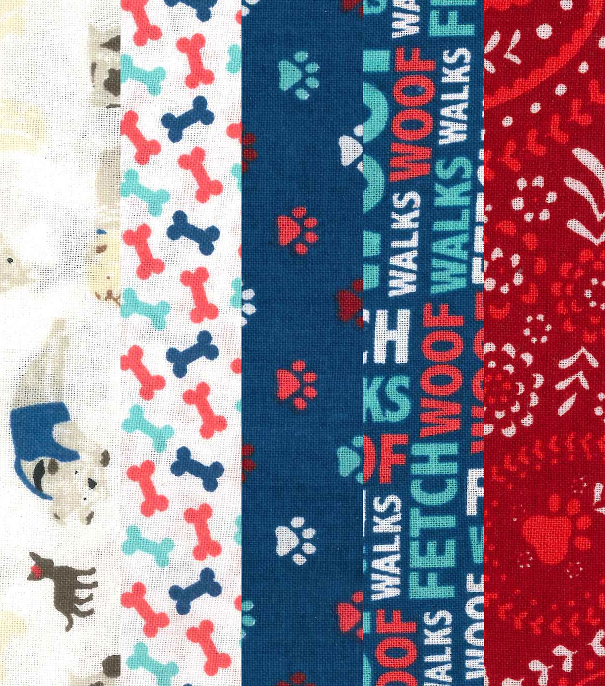 Fat Quarter Bundle Cotton Fabric 18\u0027\u0027-Dog Print