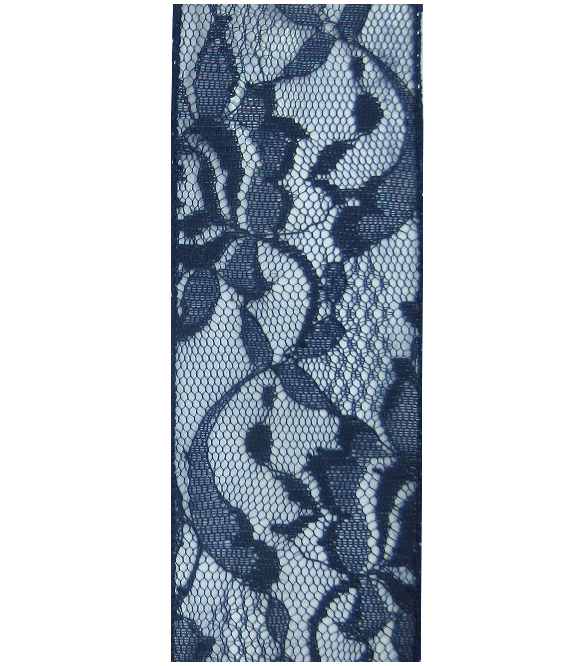 Decorative Ribbon 2.5\u0027\u0027x15\u0027 Lace Ribbon-Navy