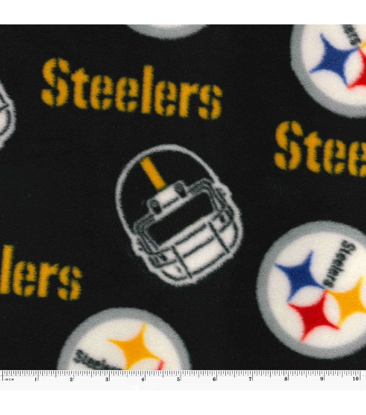"Pittsburgh Steelers Fleece Fabric 58""-Tossed Block"