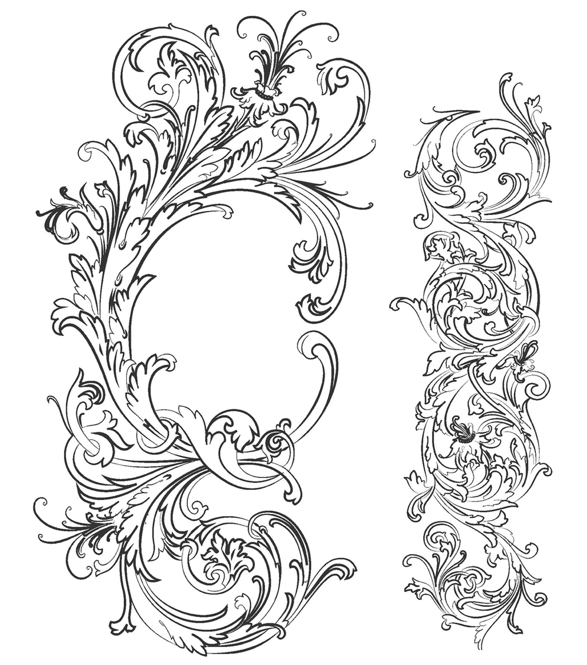 Tim Holtz Cling Rubber Stamp Set-Fabulous Flourishes