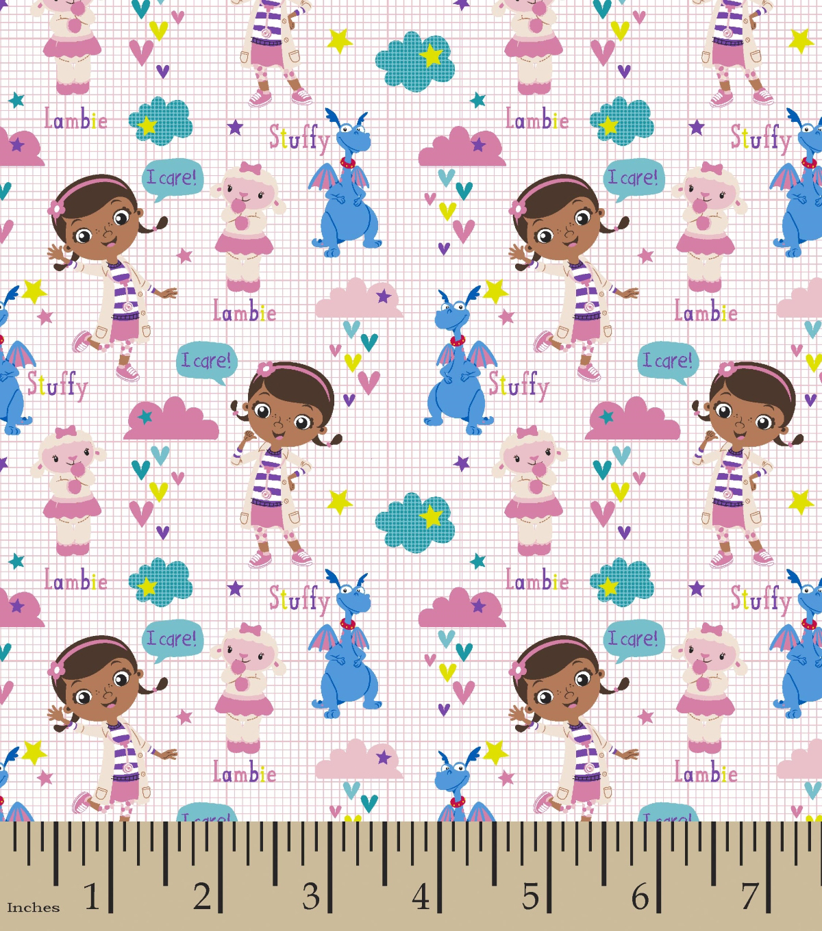 Disney® Doc McStuffins Cotton Fabric 44\u0022-Scrubs