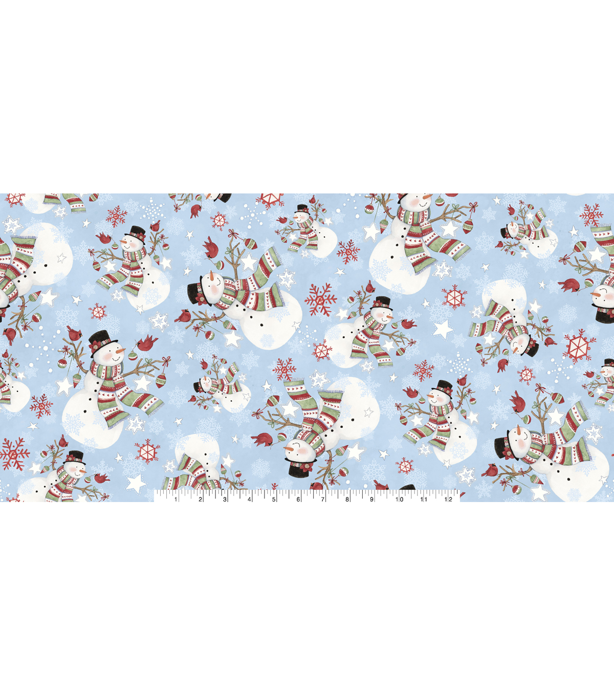 Christmas Cotton Fabric 43\u0022-Winter Snowman