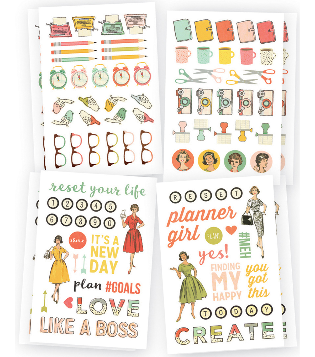 The Reset Girl Stickers 4\u0022X6\u0022-Icons