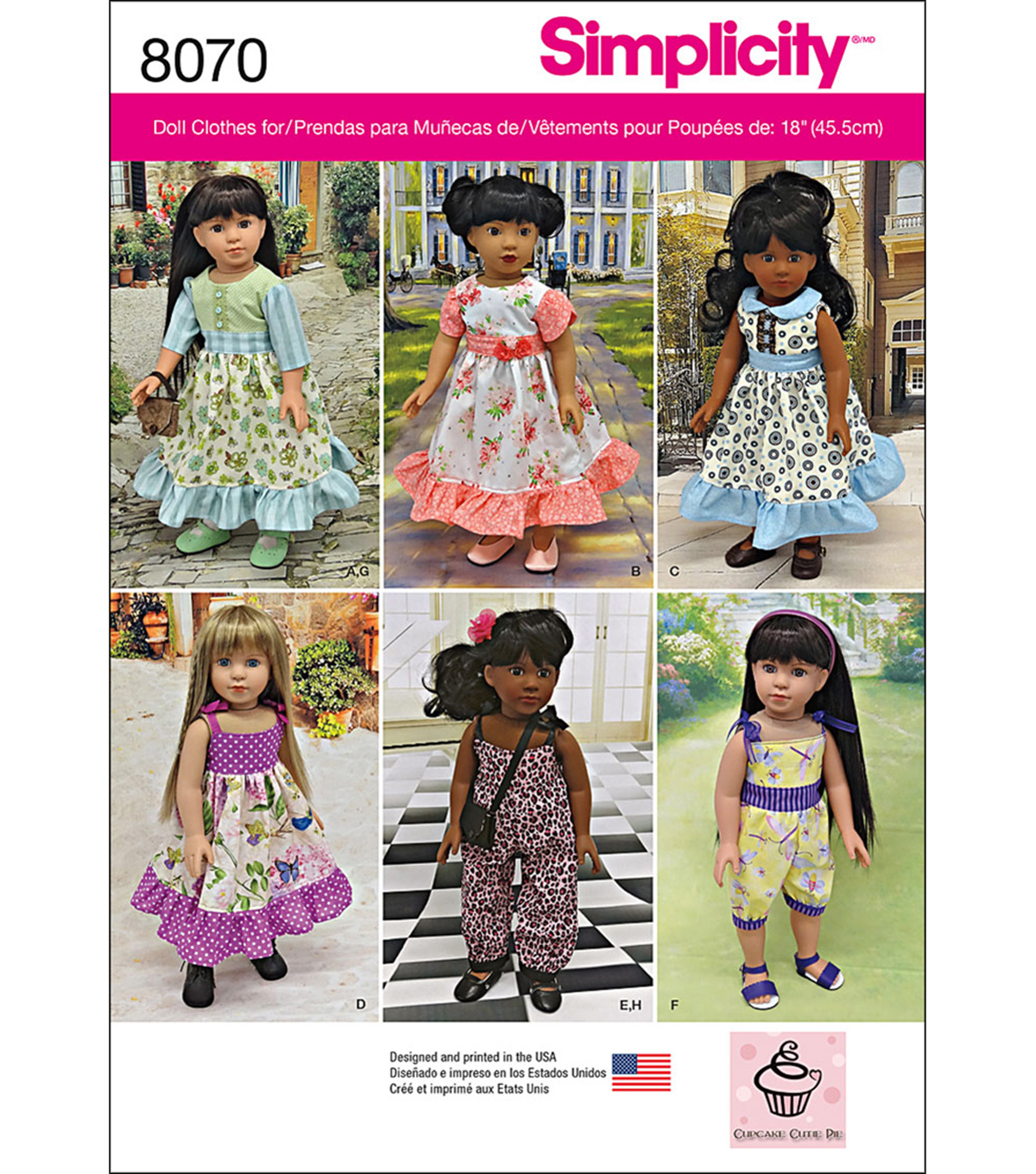 Simplicity Vintage Inspired 18 Doll Clothes-One Size
