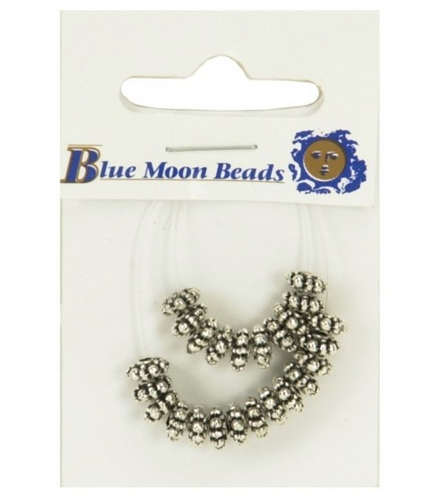 Blue Moon 2.5x6mm Metal Spacer Beads-Roundel 24PK/Silver