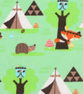 Anti-Pill Fleece Fabric 61\u0022-Woodland Tribe