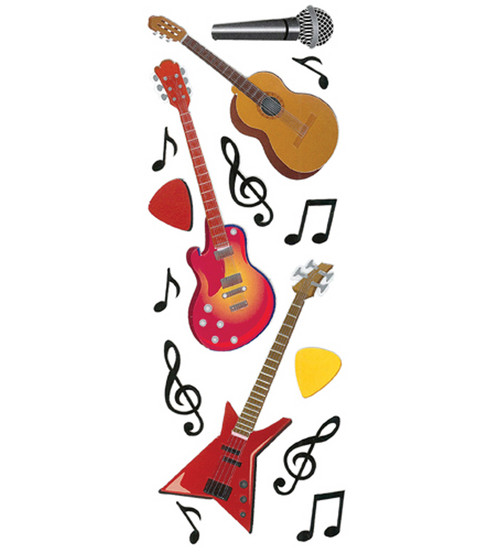 Touch Of Jolee\u0027s Dimensional Embellishment-Guitars & Music Notes
