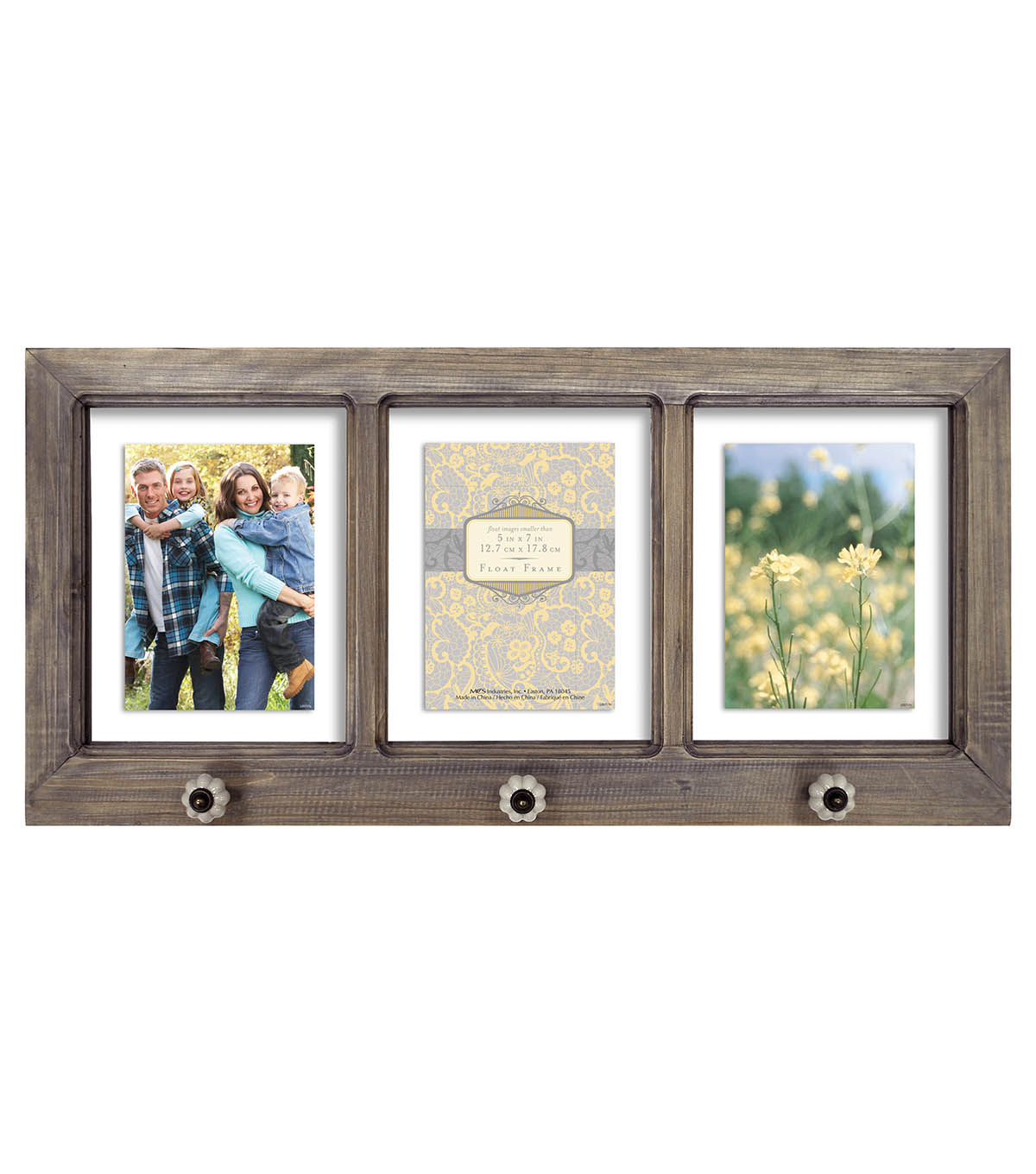 Windowpane Collage Wall Frame 5X7-Brown