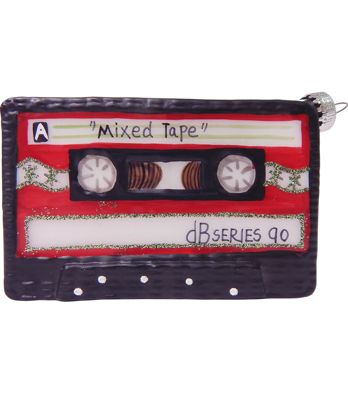 Maker's Holiday Christmas Cassette Tape Ornament