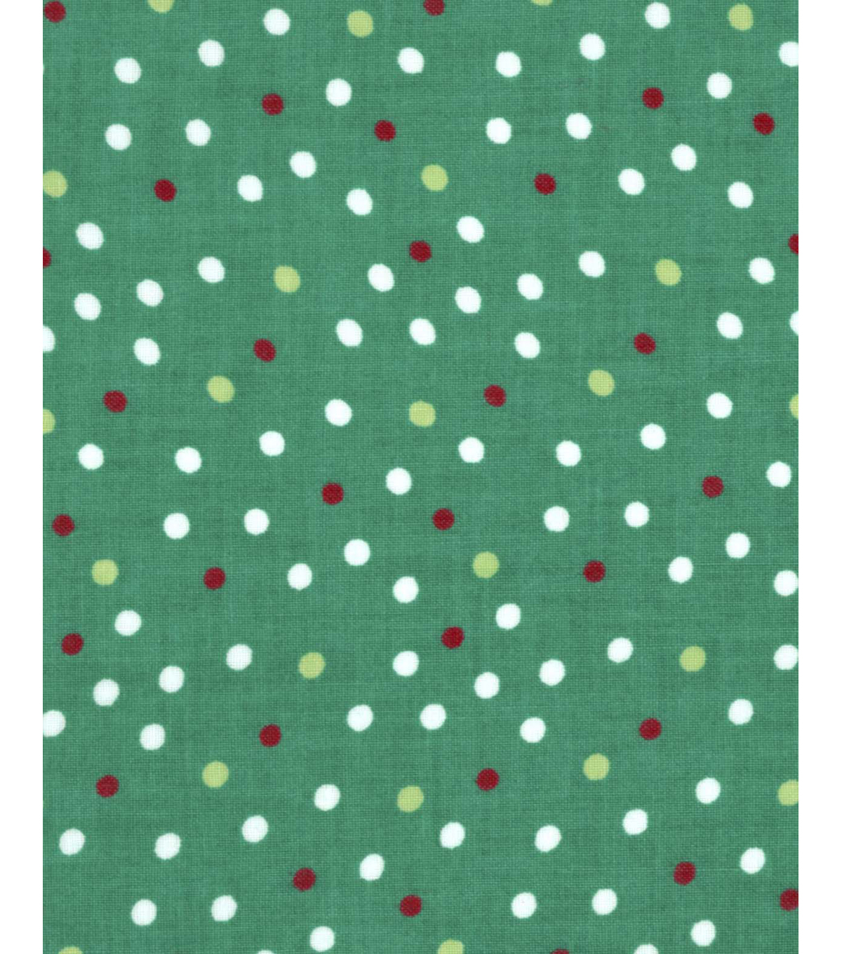 Holiday Showcase™ Christmas Cotton Fabric 43''-Dots on Green
