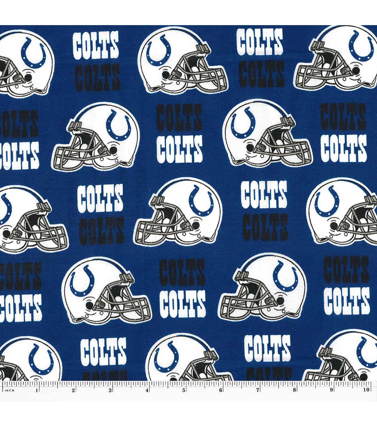 "Indianapolis Colts Cotton Fabric 58""-Helmet Logo"