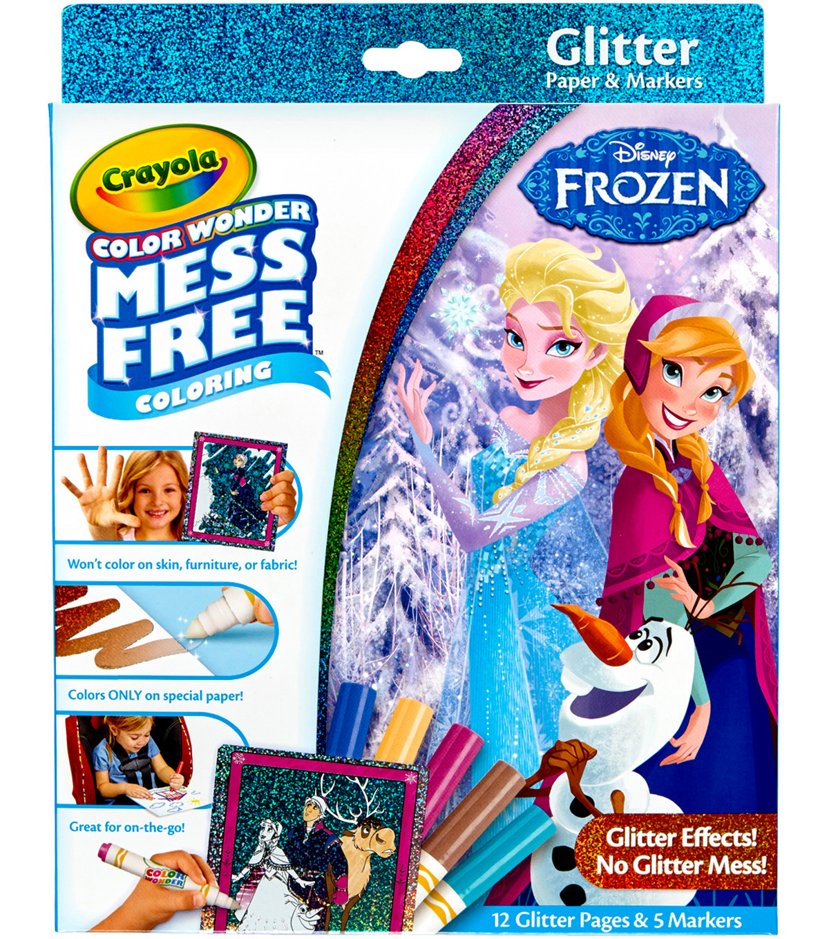 Crayola Color Wonder Glitter Set-Frozen